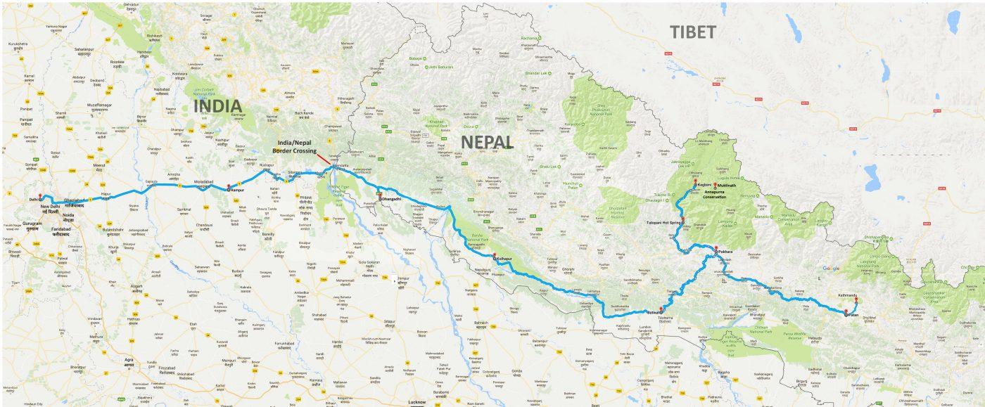 Nepal To India Pure Bike Tours